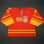"McLaughlin, Jordan<br>Red ""Stop Polio Cold"" -  Feb. 18<br>Greenville Road Warriors 2010-11<br>#30 Size: 58G"