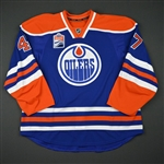 Benson, Tyler<br>Blue Set 1 w/ Rogers Place Inaugural Season Patch - Game-Issued (GI)<br>Edmonton Oilers 2016-17<br>#49 Size: 58