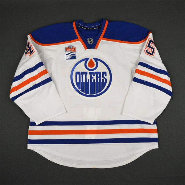Beck, Taylor<br>White Set 1 w/ Rogers Place Inaugural Season Patch<br>Edmonton Oilers 2016-17<br>#45 Size: 58