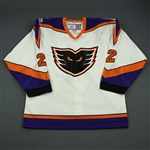 Meyer, Freddy * <br>White Set 1 10th Anniversary Patch (auto,<br>Philadelphia Phantoms 2005-06<br>#2 Size: 52