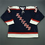 Dawes, Nigel<br>Navy Set 2 (A removed)<br>Hartford Wolf Pack 2006-07<br>#9 Size:54