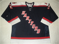 Liffiton, Dave<br>Navy Set 1<br>Hartford Wolf Pack 2006-07<br>#2 Size: 56