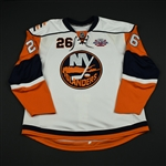 Fedotenko, Ruslan<br>White - w/ Core of the Four 25th Anniversary Patch<br>New York Islanders 2007-08<br>#26 Size: 58