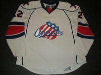 Aston, Peter<br>White Set 1<br>Rochester Americans 2007-08<br>#12 Size: 58