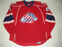 Globke, Rob<br>Red Set 1 (A removed)<br>Rochester Americans 2007-08<br>#18 Size: 58