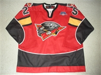 Fuller, Travis<br>Red Set 1<br>Cincinnati Cyclones 2007-08<br>#25 Size: 56