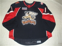 Rudkowsky, Cody<br>Navy Set 1 (Back-up only)<br>Grand Rapids Griffins 2007-08<br>#1 Size: 58G