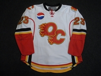 Nystrom, Eric<br>White Set 1<br>Quad City Flames 2007-08<br>#23 Size: 56