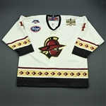 Fretter, Colton<br>White Set 1 w/5th Anniv. Patch<br>Gwinnett Gladiators 2007-08<br>#4 Size: 56