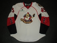 Garlock, Ryan<br>White Set 1 w/ 2008 AHL All-Star Classic patch<br>Binghamton Senators 2007-08<br>#45 Size: 58
