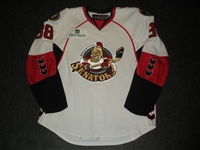 Johnson, Chaz<br>White Set 1 w/ 2008 AHL All-Star Classic patch<br>Binghamton Senators 2007-08<br>#38 Size: 56