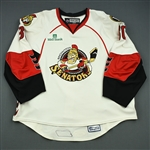 Martin, Joel<br>White Set 1 (back-up only) w/ 2008 AHL All-Star Classic patch<br>Binghamton Senators 2007-08<br>#30 Size: 58G