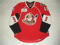 Nikulin, Alexander<br>Red Set 1 w/ 2008 AHL All-Star Classic patch<br>Binghamton Senators 2007-08<br>#41 Size: 56
