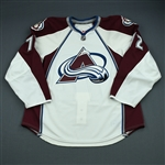 Chouinard, Joel<br>White Set 1 - Game-Issued (GI)<br>Colorado Avalanche 2009-10<br>#72 Size: 56