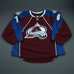 Delmas, Peter<br>Burgundy Set 1 - Game-Issued (GI)<br>Colorado Avalanche 2009-10<br>#70 Size: 58G