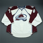 Delmas, Peter<br>White Set 1 - Game-Issued (GI)<br>Colorado Avalanche 2009-10<br>#70 Size: 58G