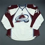 Fritsche, Tom<br>White Set 1 - Game-Issued (GI)<br>Colorado Avalanche 2009-10<br>#51 Size: 56