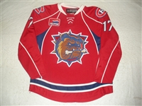 Chipchura, Kyle<br>Red Set 1<br>Hamilton Bulldogs 2007-08<br>#17 Size: 56