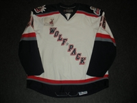 Fritz, Mitch<br>White Set 1<br>Hartford Wolf Pack 2007-08<br>#26 Size: 58+
