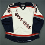 Lee, Mark<br>White Set 1<br>Hartford Wolf Pack 2007-08<br>#61 Size: 54