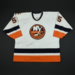 Blake, Jason * <br>White 2nd Regular Season<br>New York Islanders 2003-04<br>#55 Size: 54
