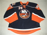 DiPietro, Rick<br>Navy Set 2 - Game-Issued (GI)<br>New York Islanders 2008-09<br>#39 Size: 58+G