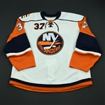 Iggulden, Mike<br>White Set 1 - Game-Issued (GI)<br>New York Islanders 2008-09<br>#37 Size: 58