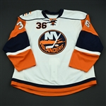 Iggulden, Mike<br>White Set 3 - Game-Issued (GI)<br>New York Islanders 2008-09<br>#36 Size: 58