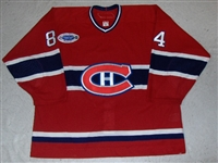 Latendresse, Guillaume * <br>Red w/ Teammates For Kids Patch - 1/6/07 GI<br>Montreal Canadiens 2006-07<br>#84 Size: 58