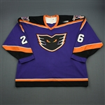 Bruininks, Brett * <br>Purple, Inaugural Season<br>Philadelphia Phantoms 1996-97<br>#26 Size: 56