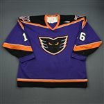 Healy, Paul * <br>Purple, Inaugural Season<br>Philadelphia Phantoms 1996-97<br>#16 Size: 54