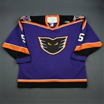 Staples, Jeff * <br>Purple, Inaugural Season<br>Philadelphia Phantoms 1996-97<br>#5 Size: 54