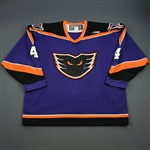 Bast, Ryan * <br>Purple<br>Philadelphia Phantoms 1998-99<br>#4 Size: 56