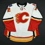 Hale, David<br>White Set 2 GI (RBK 1.0)<br>Calgary Flames 2007-08<br>#21 Size: 58