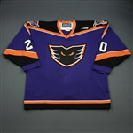 OBrien Sean * <br>Purple<br>Philadelphia Phantoms 1998-99<br>#20 Size: 54