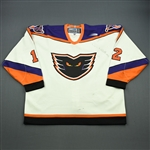 Lank, Jeff * <br>White<br>Philadelphia Phantoms 1999-00<br>#12 Size: 56