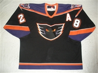 Tiley, Brad * <br>Black w/A<br>Philadelphia Phantoms 2000-01<br>#28 Size: 56