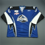 Adam, Jean-Sebastian<br>Blue Set 1 w/Kelly Cup Patch<br>Idaho Steelheads 2007-08<br>#6 Size: 56