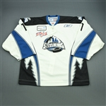 Daigneau, John<br>White Set 1 w/Kelly Cup Patch<br>Idaho Steelheads 2007-08<br>#1 Size: 58G