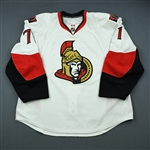 Foligno, Nick<br>White Set 3 / Playoffs<br>Ottawa Senators 2009-10<br>#71 Size: 58