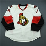Cheechoo, Jonathan <br>White Set 1<br>Ottawa Senators 2009-10<br>#41 Size: 58
