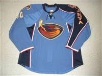 Little, Bryan <br>Blue Set 2<br>Atlanta Thrashers 2009-10<br>#10 Size: 56