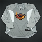 Reebok<br>Gray Practice Jersey<br>Atlanta Thrashers 2009-10<br>#N/A Size: 56