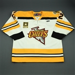 Gendur, Dan<br>White Set 1<br>Johnstown Chiefs 2009-10<br>#12 Size: 56