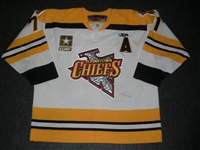 Konkle, Jarrett<br>White Set 1 w/A<br>Johnstown Chiefs 2009-10<br>#71 Size: 56