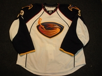 Larsen, Brad<br>White Set 1 - Game-Issued (GI)<br>Atlanta Thrashers 2008-09<br>#29 Size: 56