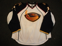 Lessard, Junior (NNOB)<br>White Set 1 - Preseason Only<br>Atlanta Thrashers 2008-09<br>#38 Size: 56