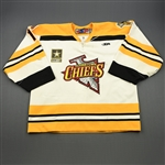Murray, John<br>White Set 1<br>Johnstown Chiefs 2009-10<br>#1 Size: 58G
