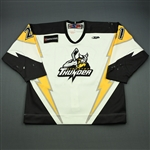 Tremblay, Luis<br>White Set 1 w/5th Anniv. Patch<br>Stockton Thunder 2009-10<br>#21 Size: 56