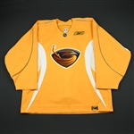 Reebok<br>Yellow Practice Jersey<br>Atlanta Thrashers 2006-07<br>#N/A Size: 58